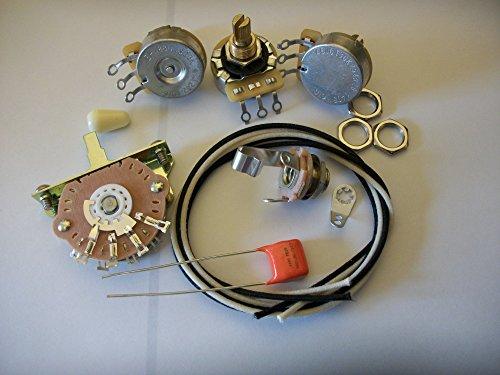 300k Volume Wiring Harness Kit For Stratocaster CTS Oak .047uf Orange Drop