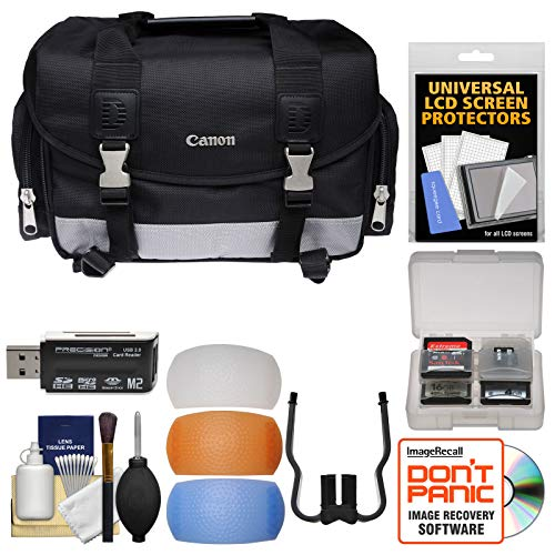 Canon 100DG Digital SLR Camera Case - Gadget Bag with Flash Filters + Cleaning Kit for Rebel T6s, T6i, T7i, EOS 77D
