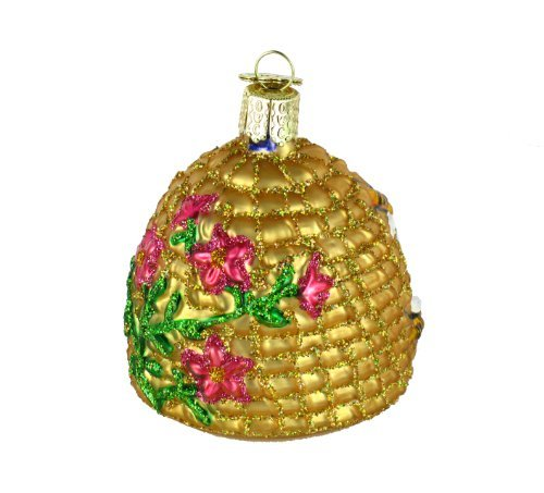 Old World Christmas Ornaments: Bee Skep Glass Blown Ornaments for Christmas Tree by Old World Christmas (Image #5)