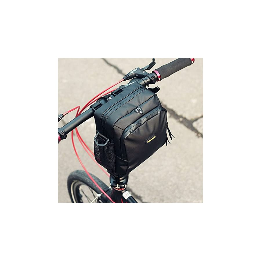 Huntvp Waterproof Bike Handlebar Bags Cycling Front Top Pannier Bike Frame Storage Bag