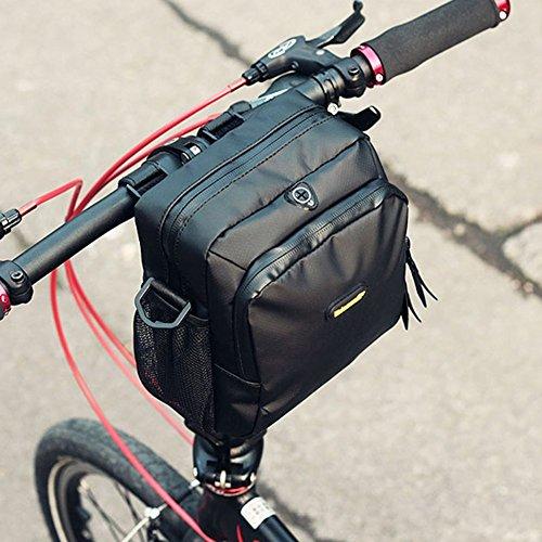 Huntvp Waterproof Bike Handlebar Bags Cycling Front Top Pannier Bike Frame Storage Bag