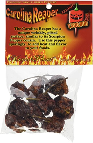 Dried Carolina Reaper Pepper Pods, 1/4 oz. Packet