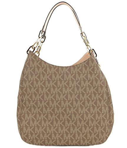 Michael Kors Fulton Large Signature Logo Shoulder Tote Bag (Mocha)