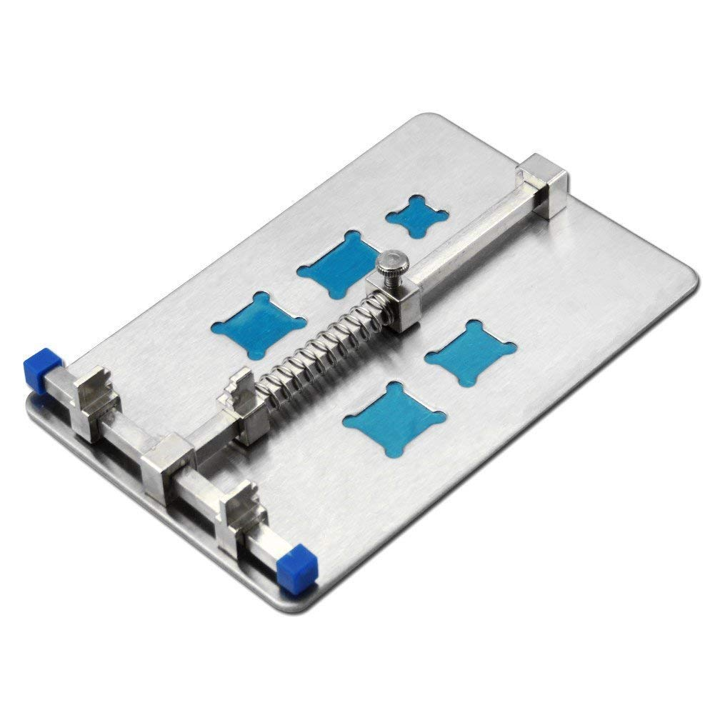 Tkdmr Sliver Adjustable Mobile Phone Pcb Circuit Board Holder With 5 About 001 Plcc Ic Extractor Puller Tool For Repair Kinds Of Grooves And Soldering