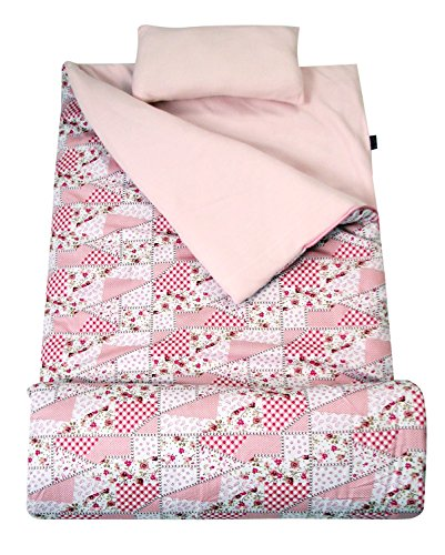 SoHo kids Classic children sleeping slumber bag with pillow and carrying case lightweight foldable for sleep over (Pretty In ()