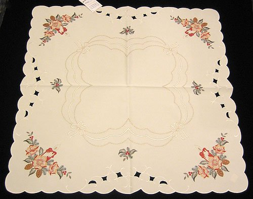 Funke Christmas Candle Linen Tablecloth, Germany