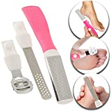 Feet Foot Care Pedicure Tools Set Kit Lot With Stainless Steel Corns Hard Horn Skin Calluses Cutter Shaver Planer Remover, Heels Soles Files Buffers Rasps Exfoliators Exfoliating Heads and Handle