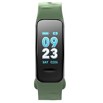 SLGJYY Bluetooth Smart pulsera pantalla a color de pulsera Pulsómetro Tensiómetro de medición Fitness Tracker, color verde: Amazon.es: Deportes y aire libre