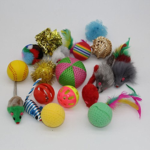 Amazon.com : Best Quality westrice 18 Variety Small Mini Playing Mouse Toys Gift for Cats Dogs Kitten Value pet Toys Packs, Mouse, Ball, ...