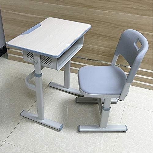 子ども用テーブル・椅子セット 子供スタディデスクスクールトレーニングクラスチルトテーブルとチェアデスクチェアテーブルセット用キッズアートテーブルセットワークステーション 高さ調整可能 角度調節可能 文房具収納 多機能 大容量トレー付き (色 : 白, サイズ : Free size)