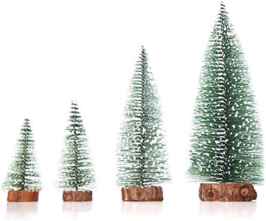Mini Weihnachtsb/äume Schneetanne Bogoro 4 Mini Weihnachtsbaum K/ünstlicher Mini Tannenbaum Christbaum mit St/änder Weihnachtsdeko Weihnachten Tischdeko Winterdeko Decoration