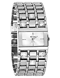 Marciano Women's | Silver-Tone Rhinestone Accented Self Adjustable Watch | FH0028
