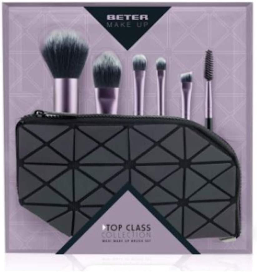 Beter Maquillaje Estuche 2 Brocha y 3 Pinceles y 1 Goupillon Rosa 1 Unidad 300 g: Amazon.es: Belleza