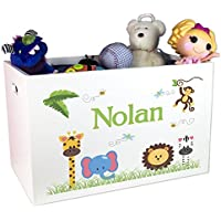 Boys Personalized Jungle Animal Toy Box