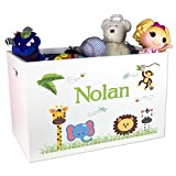 Boy's Personalized Jungle Animal Toy Box