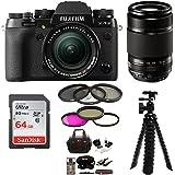 Fujifilm X-T2 Mirrorless Digital Camera w/18-55mm +55-200mm F3.5-F4.8R LM OIS+ Focus 64GB Kit