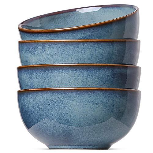 - Le Tauci 4 Piece Soup Cereal Bowls Set, 20 Ounce Blue