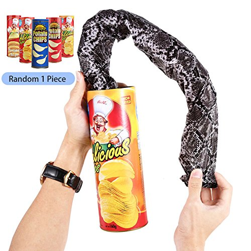 Just us Funny Simulated Crisps Shocking Snake Trick Joke Party Novelty & Gag Toys Gift For Kids Children Surprising Props Random 1 Piece -