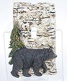 Slifka Resin Bear & Pine Tree Resin Birch Look Single Switch Plate Cover 6.5'' Tall
