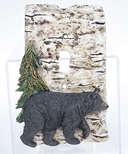 - Slifka Resin Bear & Pine Tree Resin Birch Look Single Switch Plate Cover 6.5