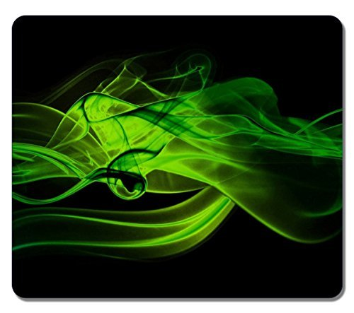 Large Mousepad 14167 Green Smoke Abstract Art Natural Eco Rubber Mousepad Design High Quality Durable Mouse Mat Computer Accessories Big Gaming Mouse Pad