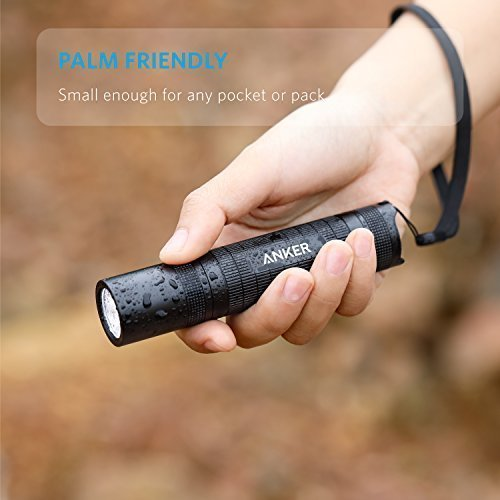 Anker-Bolder-LC40-LED-Flashlight-Pocket-Sized-LED-Torch-Super-Bright-400-Lumens-CREE-LED-IP65-Water-Resistant-3-Modes-High-Low-Strobe-for-Indoors-and-Outdoors-Camping-Hiking-and-Cycling-Use