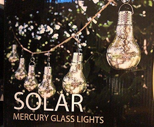(Members Mark Solar Mercury Glass Lights 6 Pack with 12 Feet of Rope)