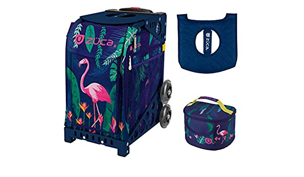 320f2bbfb7f8 Amazon.com   ZUCA Sport Bag - Flamingo with Gift Lunchbox and Seat Cover  (Navy Frames)   Sports   Outdoors