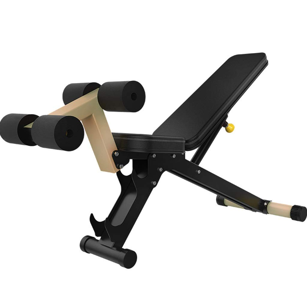 Black 149.5x70x66.5cm Home Situp Bench Professional Weight Bench MultiFunctional Fitness Equipment Abdominal Training Equipment Fitness Chair Bearing 120kg (color   Black, Size   149.5x70x66.5cm)