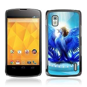 Designer Depo Hard Protection Case for LG Nexus 4 E960 / Glorious Blue Bird
