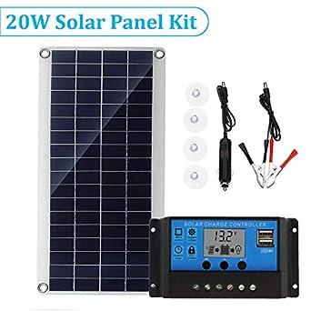 Amazon.com: Panel solar flexible de carga multiusos portátil ...
