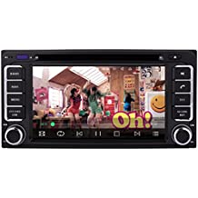 Autostereo Quad Core Android 5.1 SAT NAV Universal Toyota Multimedia DVD Player GPS Navi 2 Din In Dash Car Stereo Radio Headunit for Toyota TOYOTA RAV4/COROLLA/VIOS/HILUX/Terios/Land Cruiser 100 series/AVANZA/FORTUNER/PRADO/RunX Bluetooth RDS Wifi 3G SWC DVR CAM-IN OBD2 DAB+ 200x100mm HD 1080P Touch Screen