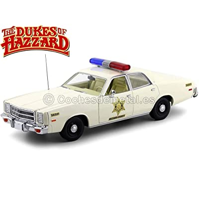 Greenlight 19055 1: 18 Artisan Collection - 1977 Plymouth Fury - Hazzard County Sheriff, Multi: Toys & Games