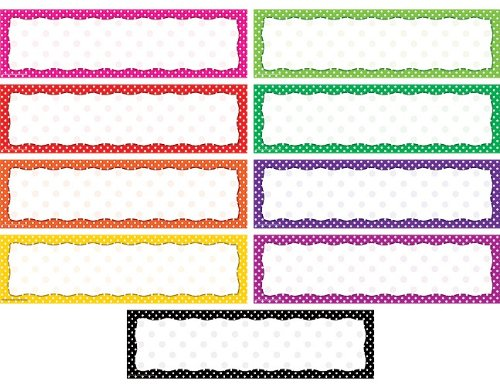 Teacher Created Resources Polka Dot Blank Headliners, Multi Color (4484) ()