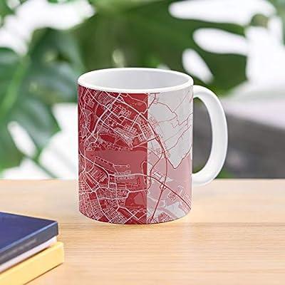 Ajax Amsterdam Map Mug Colours City Top Selling 11 Ounce White Ceramic Novelty Gift Mug 2020