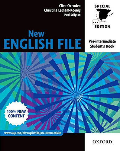 New English File Pre Intermediate Student S Book For Spain New English File Second Edition Spanish Edition Latham Koenig Christina Oxenden Clive Seligson Paul 9780194396103 Books