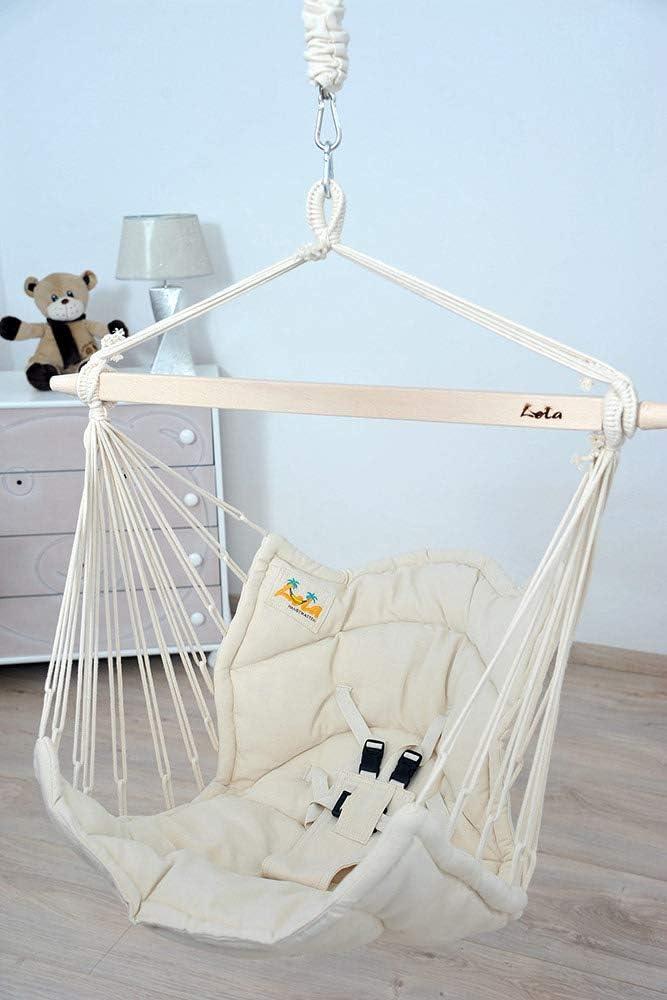 Lola Bella Chica Natur Luxus Babyh/ängematte Babywiege Kinderh/ängesessel mit Lammfell