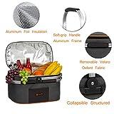 ALLCAMP Insulated Picnic Basket 22L Portable Cooler Bag for