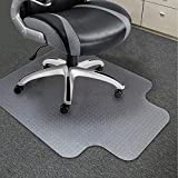 Office Chair Mat for Carpeted Floor, Delivered Flat, 36 x 48 x 1/8 Inch with Lip, Ultra Thick Hard Smooth Heavy Duty Sturdy, PC Desk Chair Pad Protector for Low Standard Medium Pile Carpet, Soundance