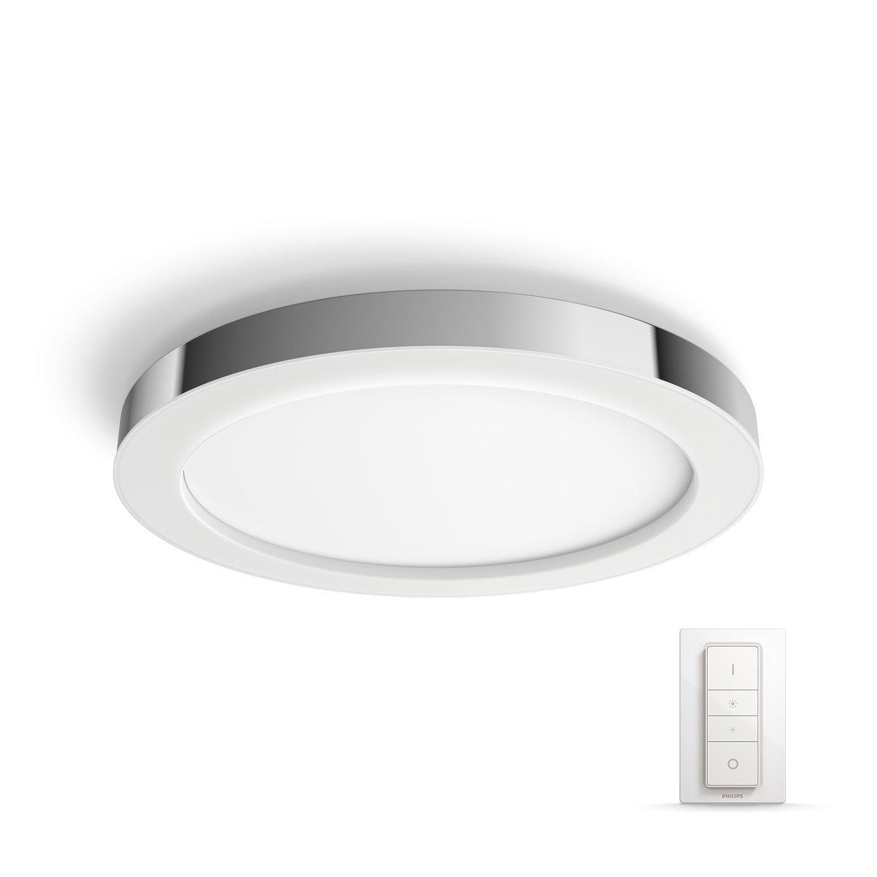 Philips Hue Adore LED Deckenleuchte, inkl. Dimmschalter, dimmbar, alle Weißschattierungen, steuerbar via App, kompatibel mit Amazon Alexa (Echo, Echo Dot), weiß