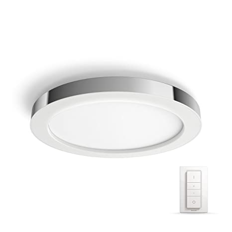 official photos 272cb c1a25 Philips Adore Hue Ceiling Lamp Chrome,1 x NW, 24 V, Metal, 43 W