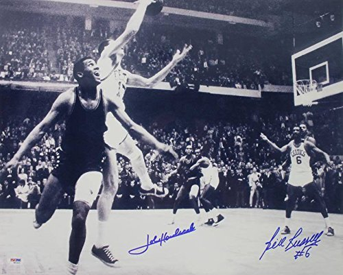 Celtics Bill Russell & John Havlicek Signed Authentic 16X20 Photograph PSA/DNA Authentication - Bill Russell Signed Photograph