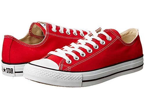 Converse Unisex Chuck Taylor All Star Low Top Red Sneakers -...