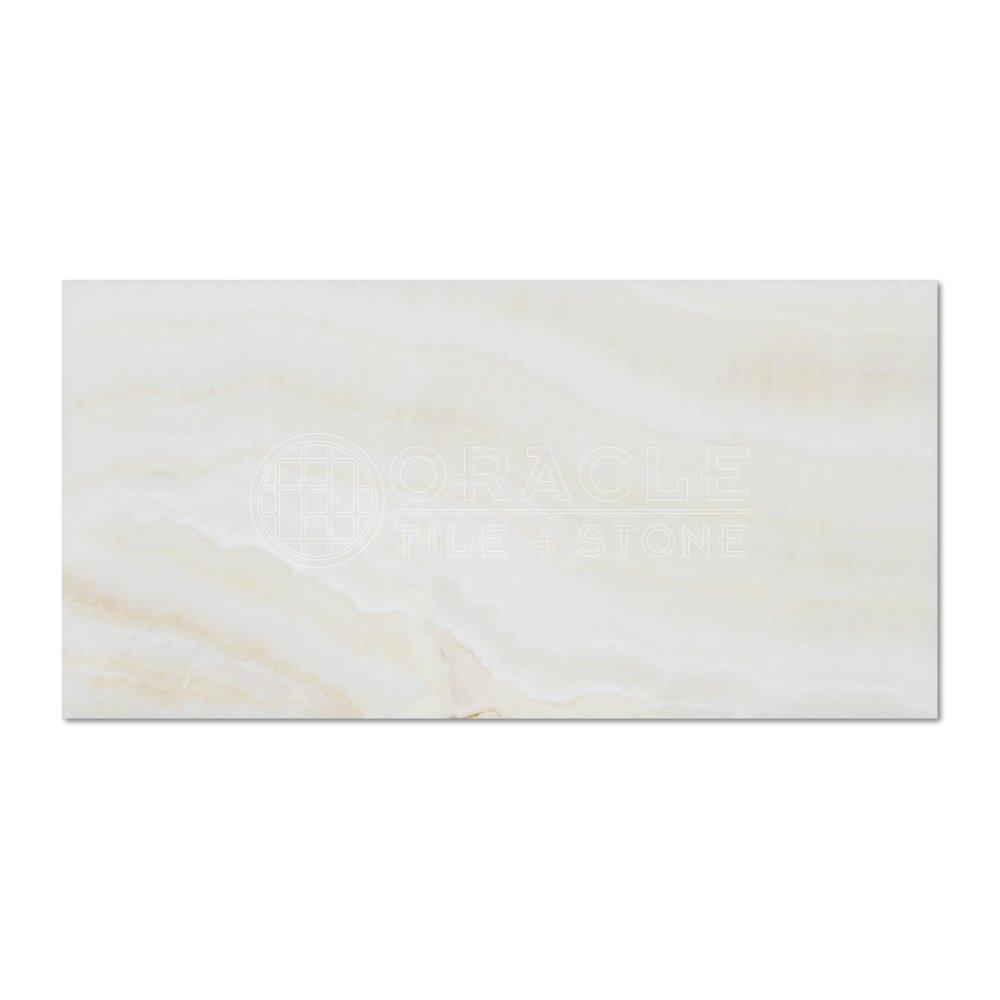 White Onyx (Bianco Fantastico) 3 X 6 Subway Brick Tile, Vein-Cut ...