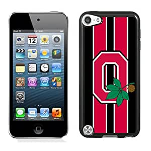 Hot Sale iPod Touch 5 Cover Case Big Ten Conference Football Ohio State Buckeyes 44 Protective Cell Phone Hardshell Cover Case For iPod Touch 5 Black Unique And Durable Designed Phone Case