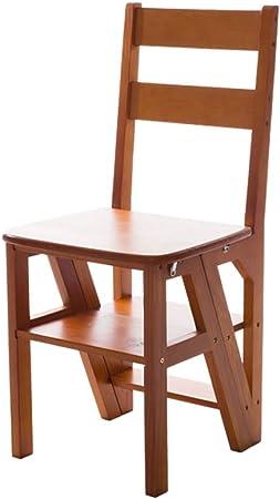 MEI XU Muebles Escalera Plegable Multifuncional de Madera para el hogar - Silla de Escalera Plegable Silla de Madera Maciza Completa Ascend Escalera de 4 Pasos Silla multifunción, 90cm de Altura *: