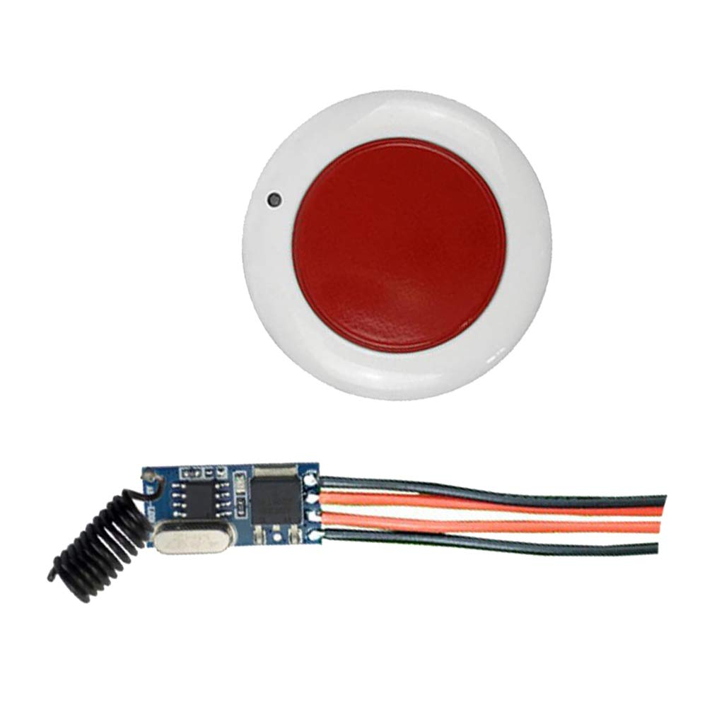B Blesiya 2 Pieces DC12V-36V Small Panel Power Supply Lamps Round Remote Control Switch Set Black and Red by B Blesiya (Image #8)