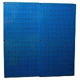 Wall Control 30-P-3232BU Blue Metal Pegboard Pack