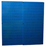 Wall Control 30-P-3232BU Blue Metal Pegboard Pack