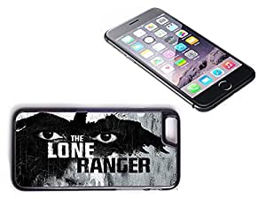 iPhone 6 Black Plastic Hard Case with High Gloss Printed Insert Lone ranger